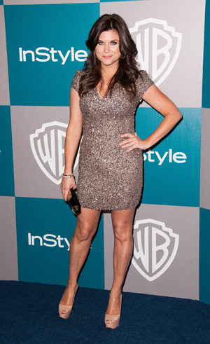 Tiffani Thiessen at the Golden Globes