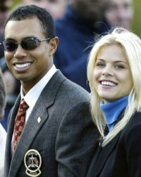 Tiger Woods and Elin in happier days