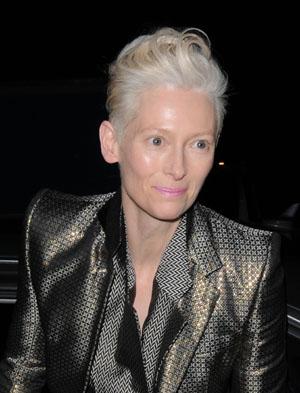 Tilda Swinton at David Bowie opening
