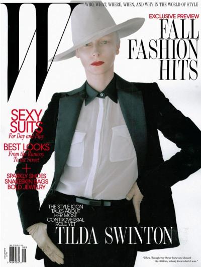 Tilda Swinton W magazine