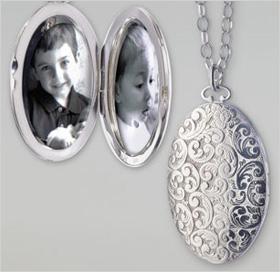 Floral-carved locket