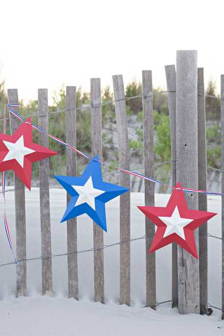 Fourth of July star banner