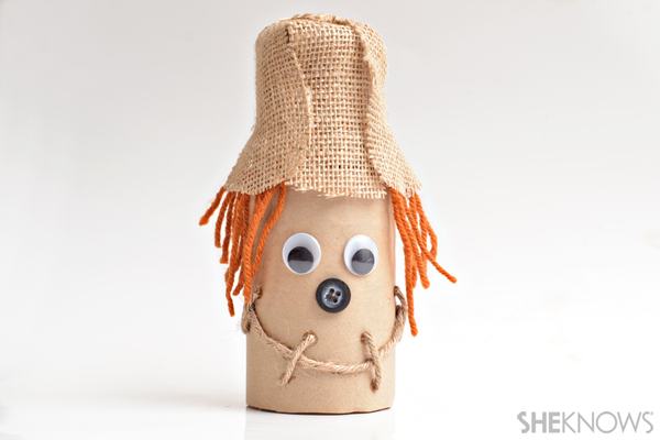 Tin can scarecrow craft