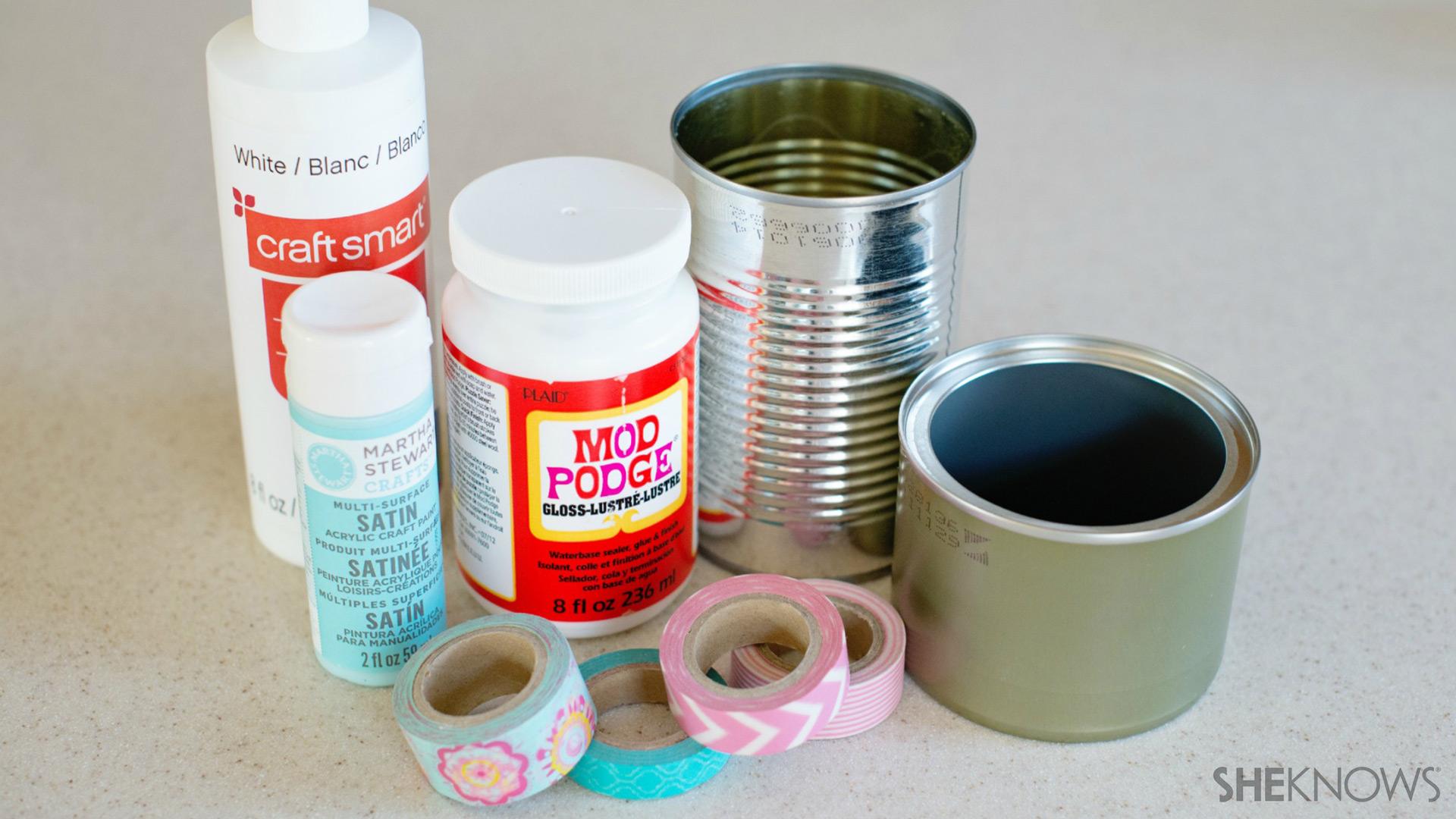 Tin can pencil holder | Sheknows.com - supplies