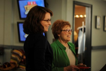 Tina FEy and her TV mom enjoy a 30 Rock Mother's Day