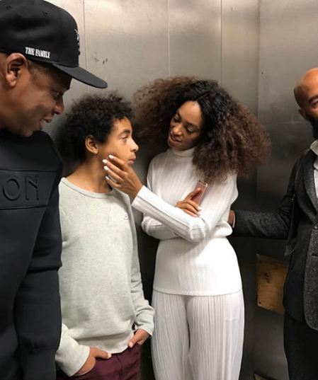 Jay-Z Beyonce, Solange and son