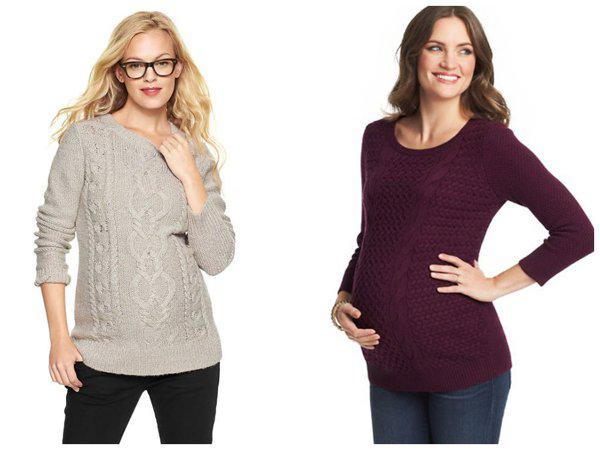 Cute maternity sweaters to blanket your