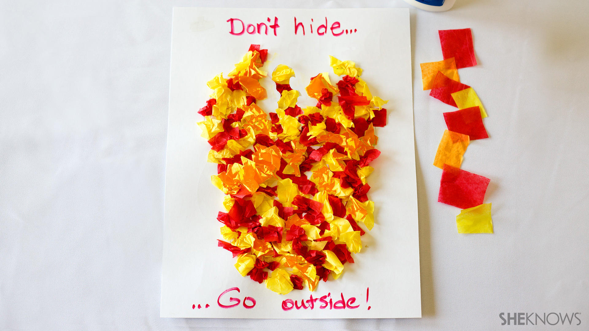 Tissue paper fire safety craft | Sheknows.com