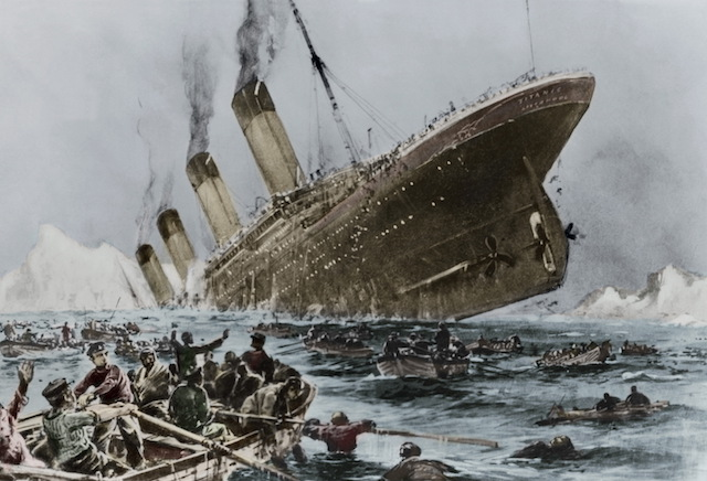 Illustration of Titanic Sinking