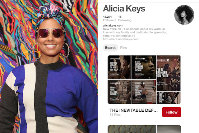 Celebs on Pinterest: Alicia Keys