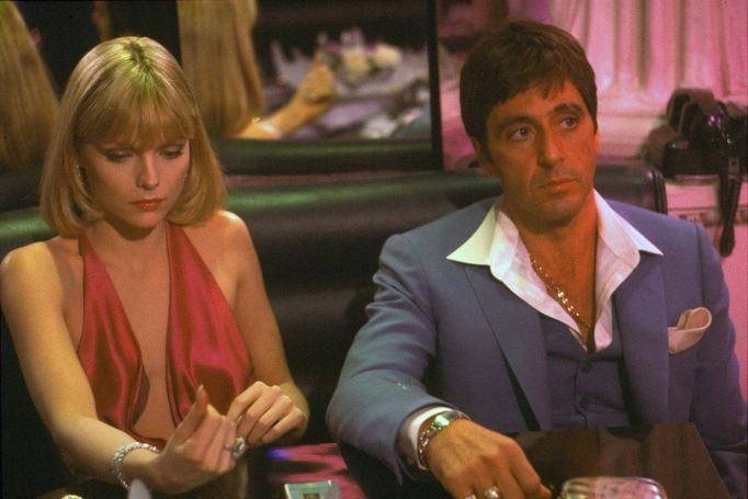 Michelle Pfeiffer and Al Pacino in 'Scarface'