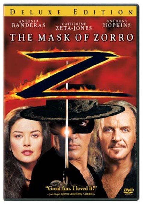 'The Mask of Zorro' DVD art