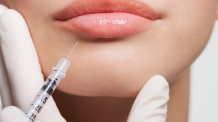 Close up of woman receiving botox