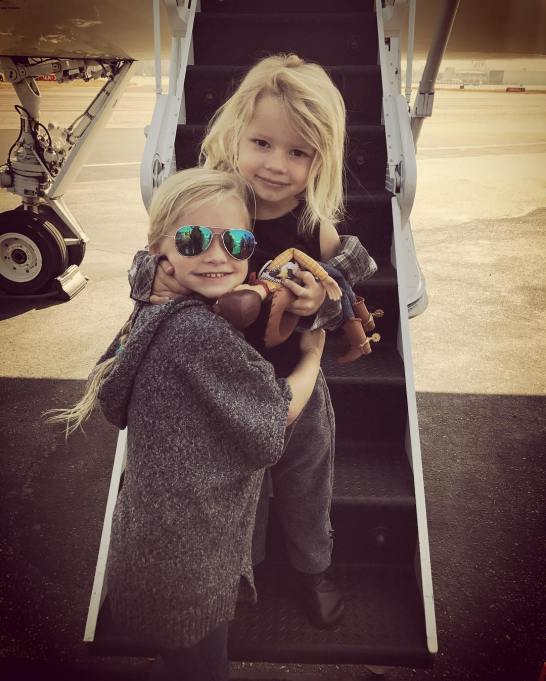 Jessica Simpson's family photos are totally beautiful: Jessica Simpson's children, Maxwell and Ace, pose by a plane