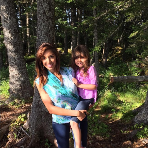 Teen Mom's Farrah Abraham and daughter Sophia in Alaska