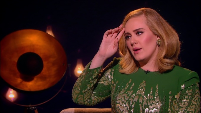 Adele being interviewed