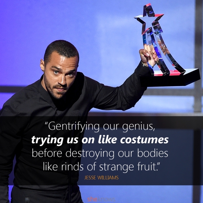 Jesse Williams BET Awards quote