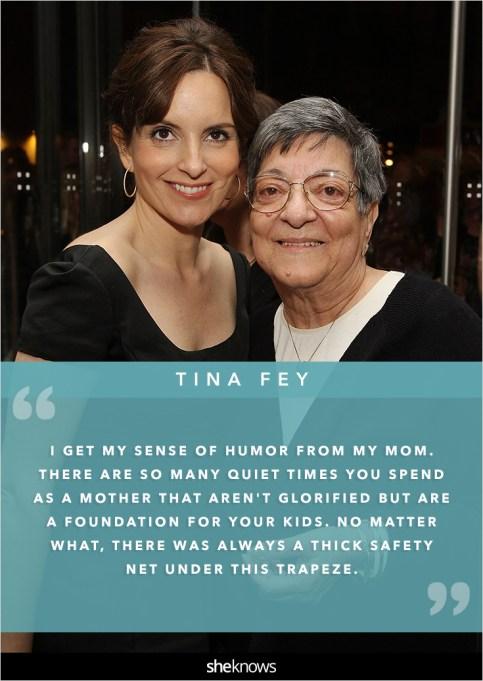 Tina Fey and her mom