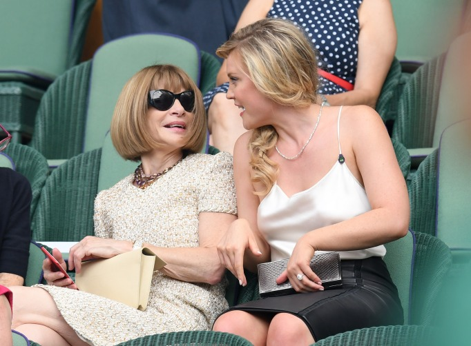 Check out these celebrities at the 2017 Wimbledon tournament: Anna Wintour & Camilla Kerslake