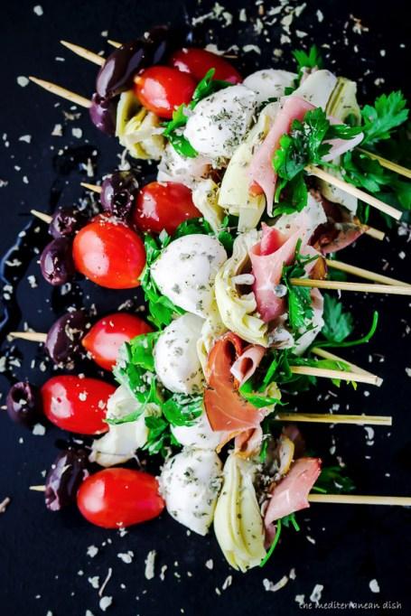 Antipasto skewers from The Mediterranean Dish