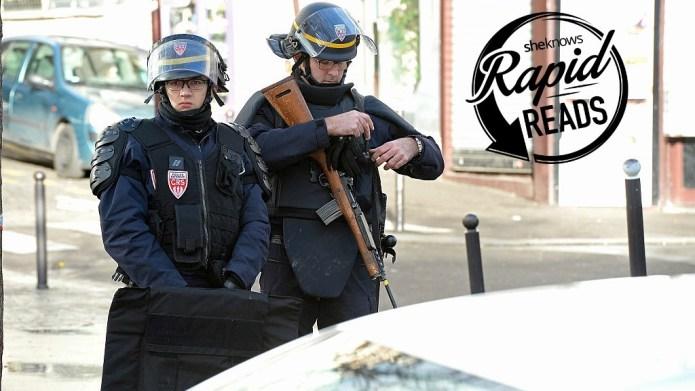 Knife-wielding man shot outside Paris police