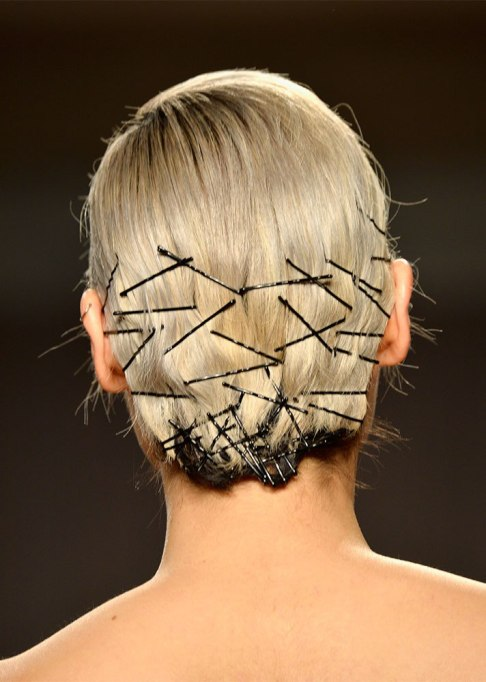 A cluster of bobby pins