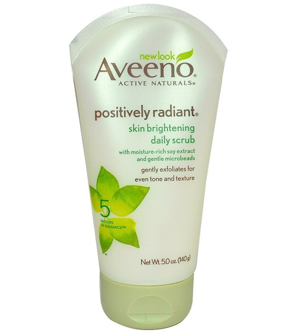 The Best, Most-Gentle Facial Scrubs: Aveeno Positively Radiant Skin Brightening Daily Scrub | Summer Skincare 2017
