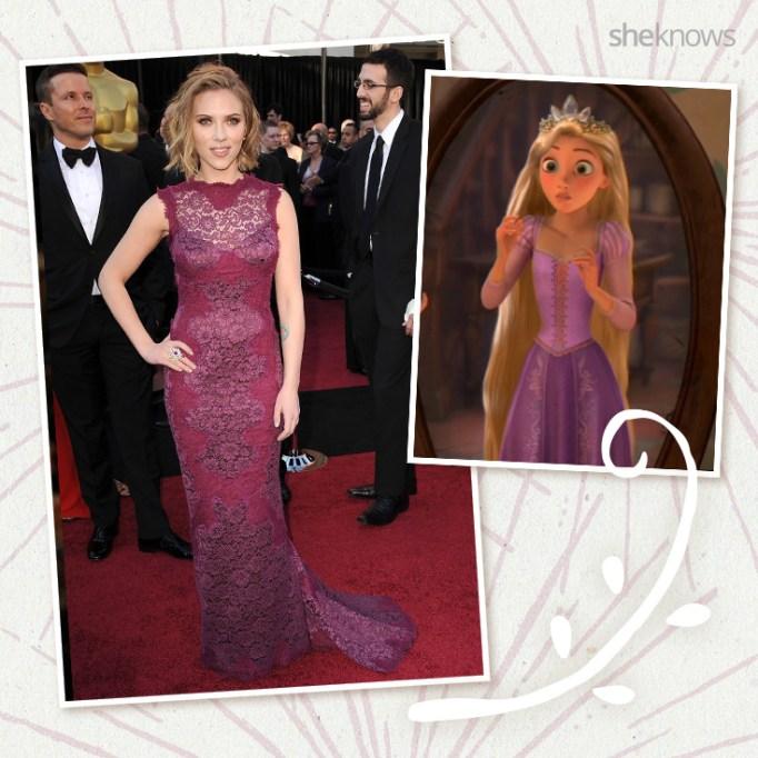 Scarlett Johansson as Disney princess Rapunzel
