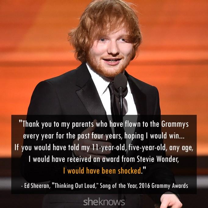 Ed Sheeran 2016 Grammys