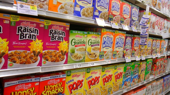 Kellogg's cereal in grocery store