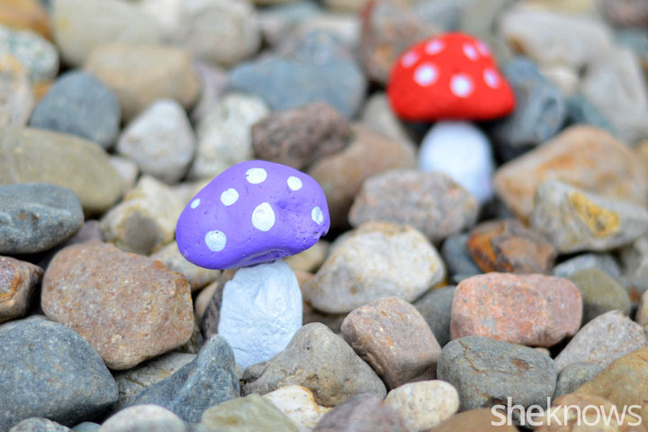 Toadstool rock garden craft