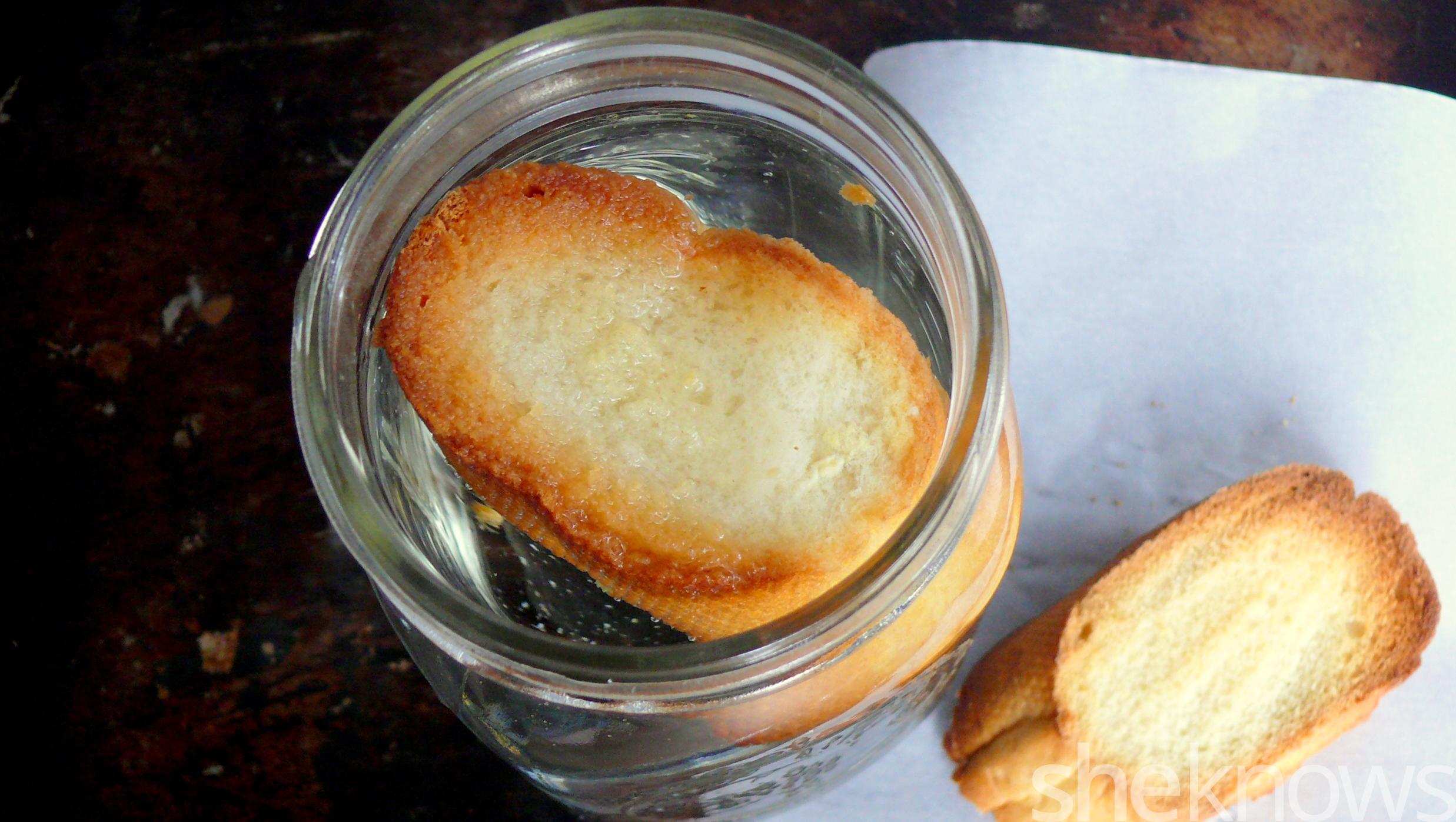 jar of toast water