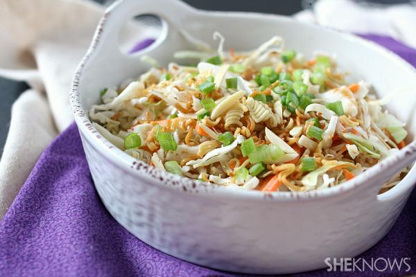 Toasted ramen noodle salad