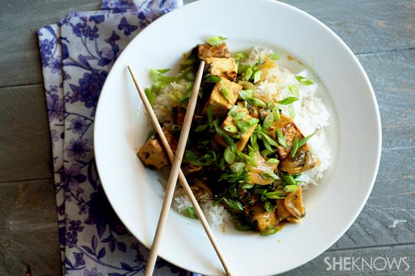 Spicy lemongrass tofu