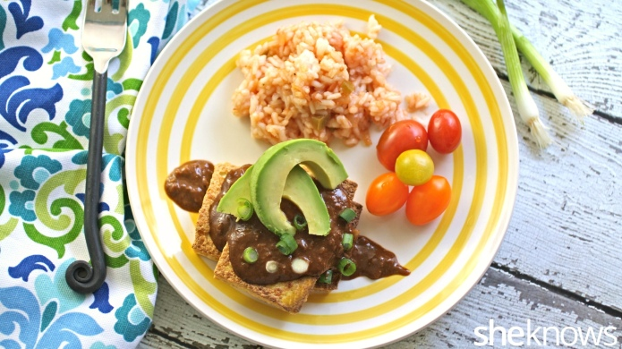 Meatless Monday: Tofu with mole sauce