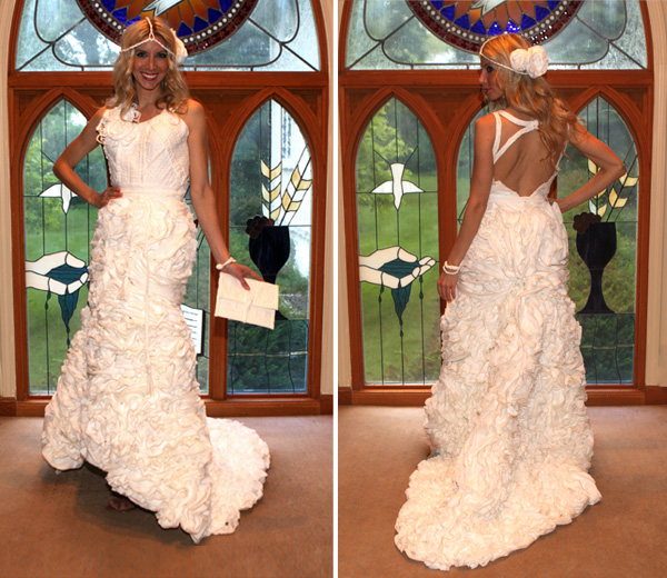 first place toilet paper wedding dress