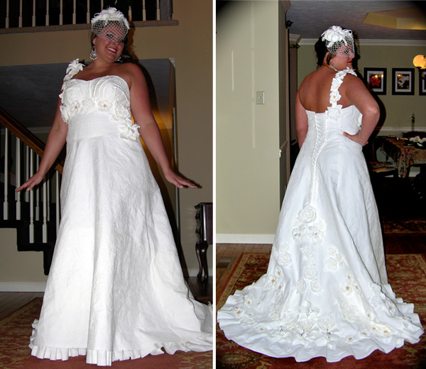 second place toilet paper wedding dress