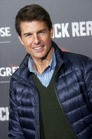 Tom Cruise in a puffy jacket