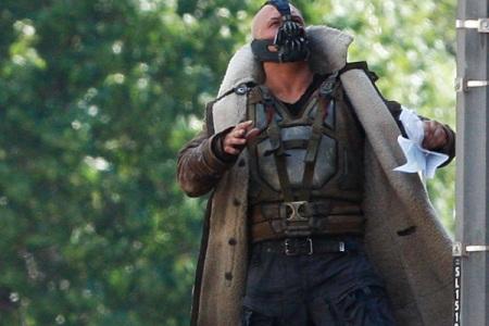 Tom Hardy as Dark Knight Rising's Bane