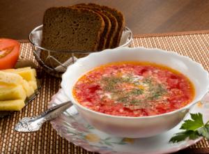 Tomato cabbage soup