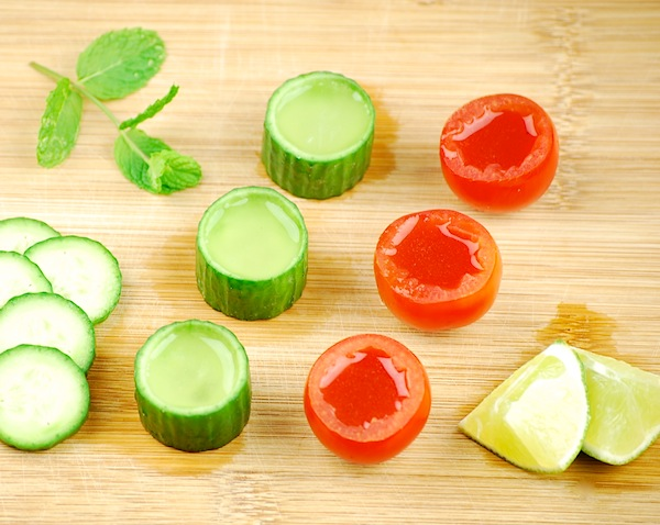 Tomato and cucumber shooters