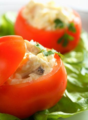 Tomato and Tuna Cup