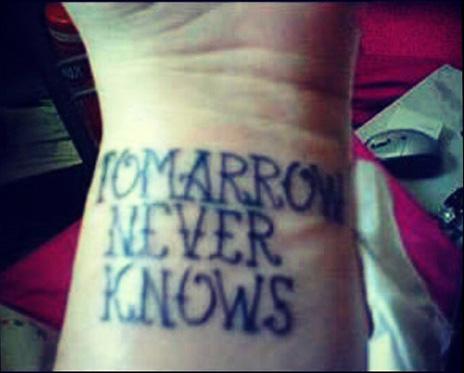 tomorrow never knows tattoo