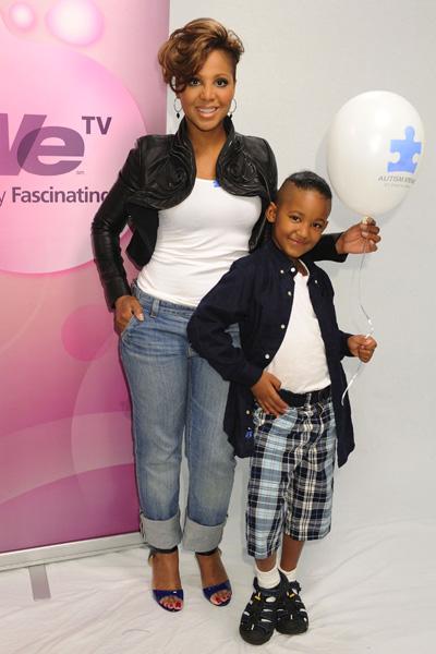Toni Braxton and son Diezel