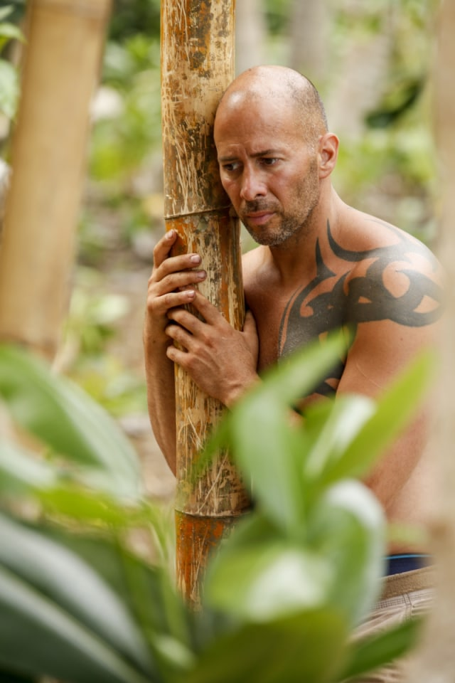 Tony Vlachos at Mana camp on Survivor: Game Changers