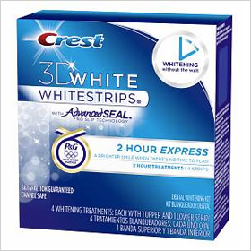 Try: Crest 3D 2 Hour Express Whitestrips Dental Whitening Kit ($35.99)