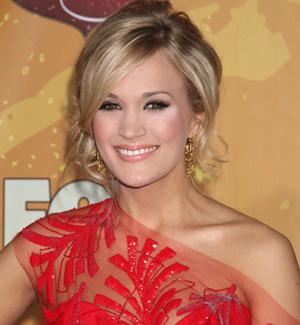 Carrie Underwood's chignon