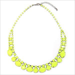 Neon pavé necklaces