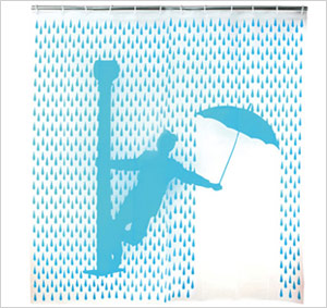 PVC-free shower curtain