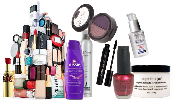Top cosmetic and beauty products